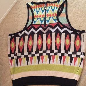 Arden B Multi color out of Africa crop top